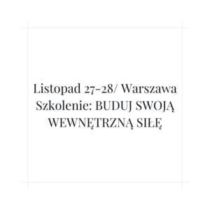 Szkolenie w Warszawie w terminie 27-28 listopad